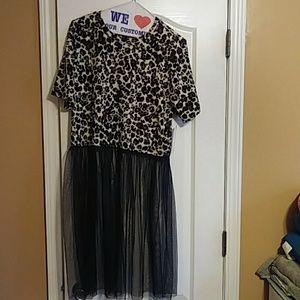 Tops - Leopard tutu shirt